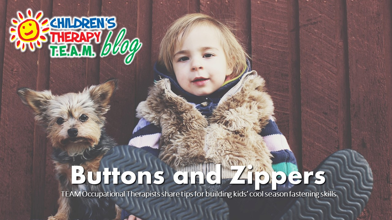 Helping kids with buttons and zippers